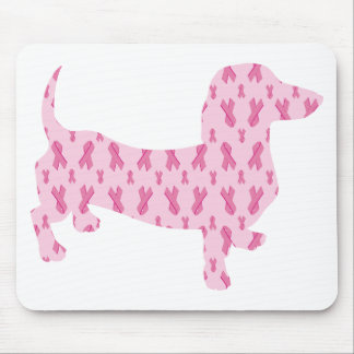Cancer Ribbon Dachshund Mouse Pad