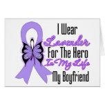 Cancer Ribbon Hero in My Life My Boyfriend Cards