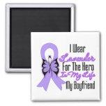 Cancer Ribbon Hero in My Life My Boyfriend Magnets
