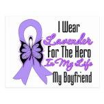 Cancer Ribbon Hero in My Life My Boyfriend Post Cards