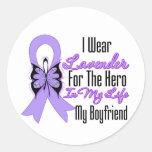 Cancer Ribbon Hero in My Life My Boyfriend Stickers