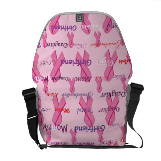 Cancer Ribbons - For Mom and Others Messenger Bag