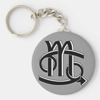 Cancer & Scorpio Partners bw Keychain