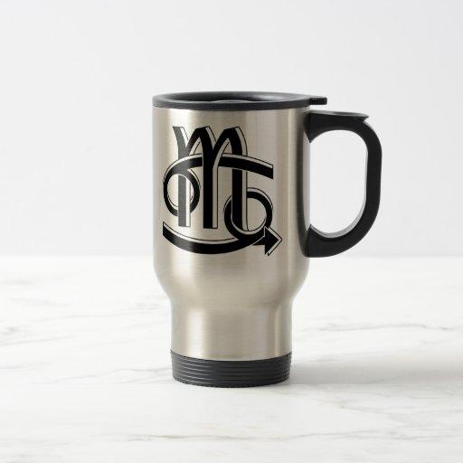 Cancer & Scorpio Partners bw Travel Mug