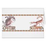 Cancer Scorpio zodiac friendship by Valxart Greeting Card