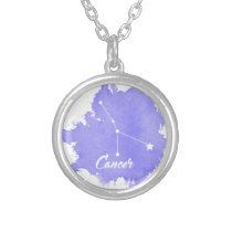 Cancer Star Sign Pendant Oval Necklace