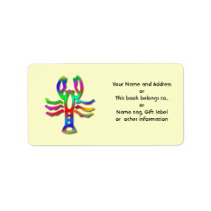Cancer Star Sign Rainbow Book Label Name Tag at Zazzle