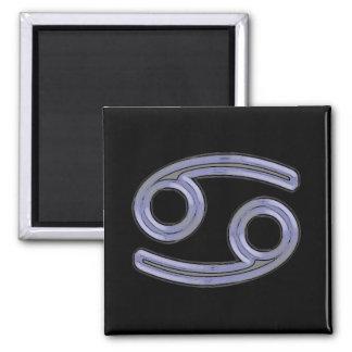 Cancer Star Sign Symbol 2 Inch Square Magnet