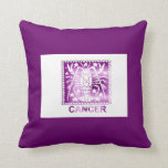Cancer star sign zodiac sign June 21 - July 22 Throw Pillow