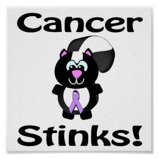 Cancer Stinks Skunk Awareness Design Poster