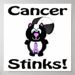 Cancer Stinks Skunk Awareness Design Print