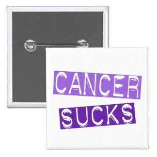 Cancer Sucks 2C (General Cancer) Pinback Button