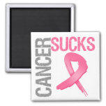 Cancer Sucks - Breast Cancer 2 Inch Square Magnet
