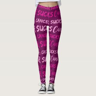 Cancer Sucks (Breast Cancer Awareness) Leggings