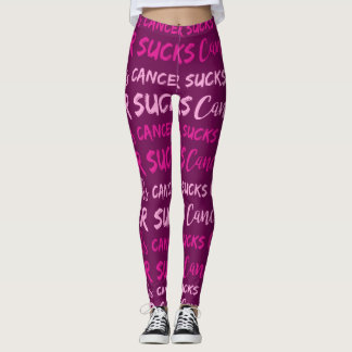 Cancer Sucks (Breast Cancer Awareness) Leggings