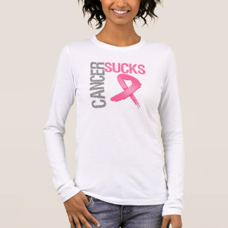 Cancer Sucks - Breast Cancer Long Sleeve T-Shirt