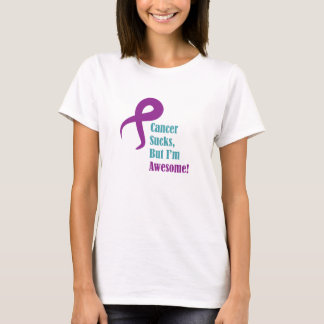 Cancer sucks but I'm awesome pancreatic cancer T-Shirt