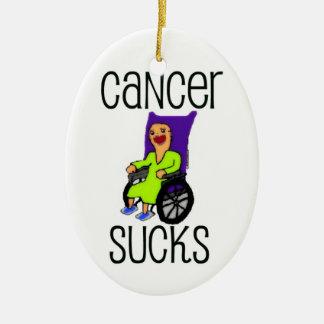 Cancer Sucks Cartoon Ceramic Ornament