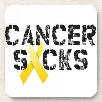 Cancer Sucks - Childhood Cancer Ribbon Beverage Coaster