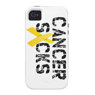 Cancer Sucks - Childhood Cancer Ribbon Case-Mate iPhone 4 Cover