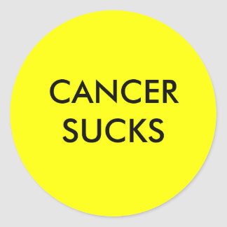 CANCER SUCKS CLASSIC ROUND STICKER