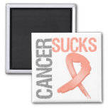 Cancer Sucks - Endometrial Cancer Refrigerator Magnets