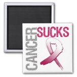 Cancer Sucks - Head and Neck Cancer 2 Inch Square Magnet