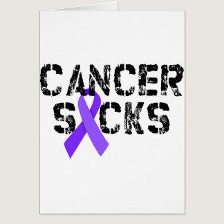 Cancer Sucks - Hodgkin's Lymphoma Cancer Ribbon Card