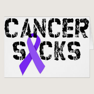 Cancer Sucks - Hodgkin's Lymphoma Cancer Ribbon Card