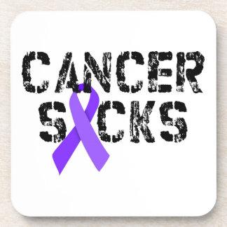 Cancer Sucks - Hodgkin's Lymphoma Cancer Ribbon Coaster