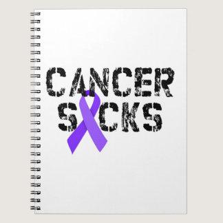 Cancer Sucks - Hodgkin's Lymphoma Cancer Ribbon Notebook