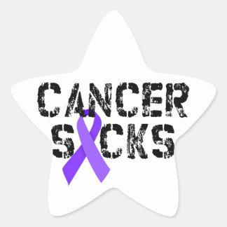 Cancer Sucks - Hodgkin's Lymphoma Cancer Ribbon Star Sticker