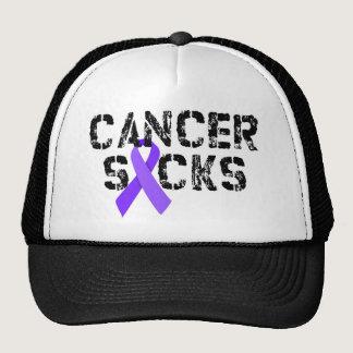 Cancer Sucks - Hodgkin's Lymphoma Cancer Ribbon Trucker Hat