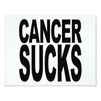 Cancer Sucks 4.25x5.5 Paper Invitation Card