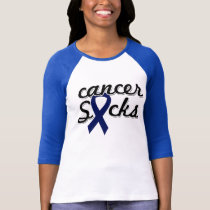 Cancer Sucks Ladies 3/4 Sleeve Raglan (Fitted) T-Shirt