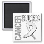 Cancer Sucks - Lung Cancer 2 Inch Square Magnet