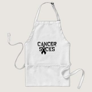 Cancer Sucks - Melanoma Cancer Ribbon Adult Apron