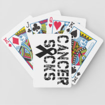 Cancer Sucks - Melanoma Cancer Ribbon Bicycle Playing Cards