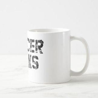 Cancer Sucks - Melanoma Cancer Ribbon Coffee Mug