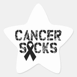 Cancer Sucks - Melanoma Cancer Ribbon Star Sticker