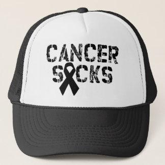 Cancer Sucks - Melanoma Cancer Ribbon Trucker Hat
