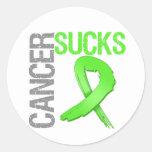 Cancer Sucks - Non-Hodgkin's Lymphoma Round Stickers