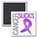 Cancer Sucks - Pancreatic Cancer 2 Inch Square Magnet