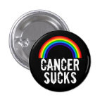 Cancer Sucks (Rainbow) Button