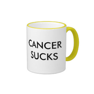 CANCER SUCKS RINGER MUG