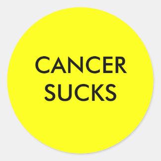 CANCER SUCKS ROUND STICKERS
