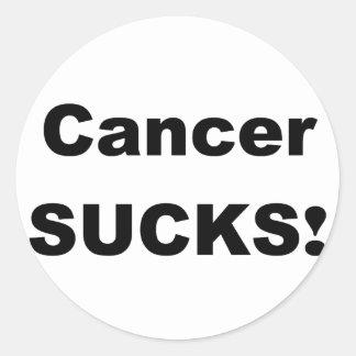 Cancer Sucks Classic Round Sticker