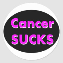 'cancer sucks' sticker