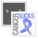 Cancer Sucks - Stomach Cancer Pinback Button