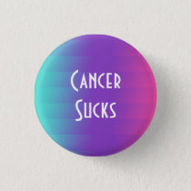 Cancer Sucks: Thyroid Cancer Pinback Button